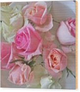 A Plate Of Roses Wood Print