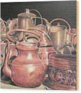A Plethora Of Pots Wood Print