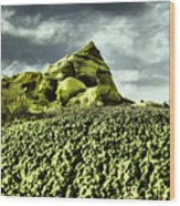 A Pointed Hilltop Wood Print
