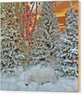 A Polar Bear Christmas Wood Print