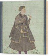 A Portrait Of A Deccani Nobleman Wood Print