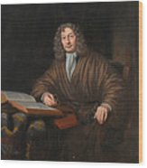 A Portrait Of A Gentleman In His Study Wood Print