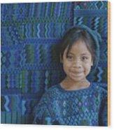 A Portrait Of A Guatemalan Girl Wood Print by Raul Touzon