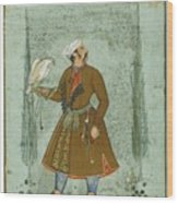 A Portrait Of A Nobleman Holding A Falcon Wood Print
