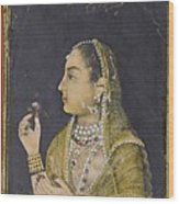 A Portrait Of Jahanara Begum Wood Print