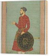 A Portrait Of Khan Zaman Wood Print