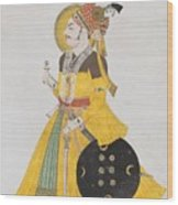 A Portrait Of Maharana Wood Print