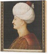 A Portrait Of Suleyman Wood Print