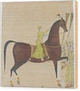A Portrait Of The Royal Stallion Wood Print