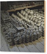 A Potter's Storehouse Wood Print