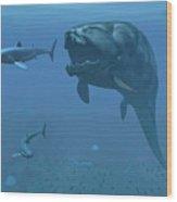 A Prehistoric Dunkleosteus Fish Wood Print