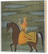 A Prince Riding In A Landscape Wood Print