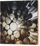 A Question Of Perspective On Sibelius Monument Wood Print