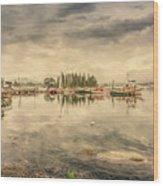 A Quiet Little Harbor Wood Print