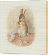 A Rabbit's Tea Party Wood Print