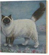 A Himalayan Cat Wood Print