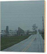 A Rainy Road Home Wood Print