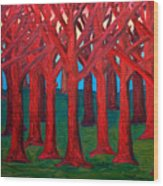 A Red Wood - Sold Wood Print
