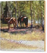 A Rest By The River Wood Print
