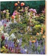A Riot Of Roses Wood Print