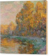 A River In Autumn Wood Print