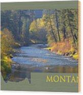 A River Runs Thru Autumn Wood Print