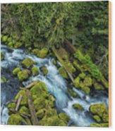 A River's Path Wood Print