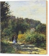 A Road In Louveciennes Wood Print