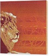 A Roaring Lion Kills No Game Wood Print
