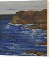 A Rocky Coast Wood Print