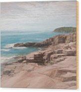 A Coastal Scene Wood Print