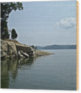 A Rocky Point - Monroe Lake Wood Print