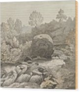 A Rocky Stream Wood Print