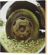 A Rolling Tire Gathers No Moss Wood Print