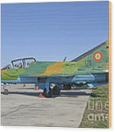 A Romanian Air Force Mig-21b Airplane Wood Print