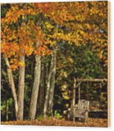 A Romantic Autumn Spot In Inlet Wood Print
