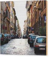 A Rome Street Wood Print