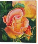 A Rose For Nan Wood Print
