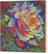 A Rose Impression Wood Print