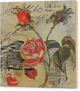 A Rose Story Wood Print