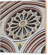 A Rose Window Wood Print