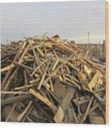A Rubbish Pile Wood Print