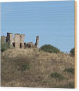A Ruin In The Hills Of Tuscany Wood Print