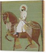 A Ruler On Horseback Wood Print