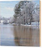 A Rural Lake Wood Print