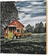 A Ruskin Shed Wood Print