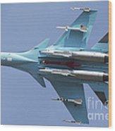 A Russian Air Force Su-34 In Flight Wood Print