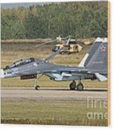 A Russian Navy Su-30sm Aircraft Wood Print