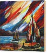 A Sailing Prism Wood Print