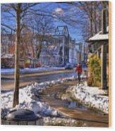 A Sandpoint Winter Wood Print